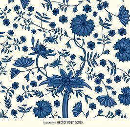 Fundo vintage floral