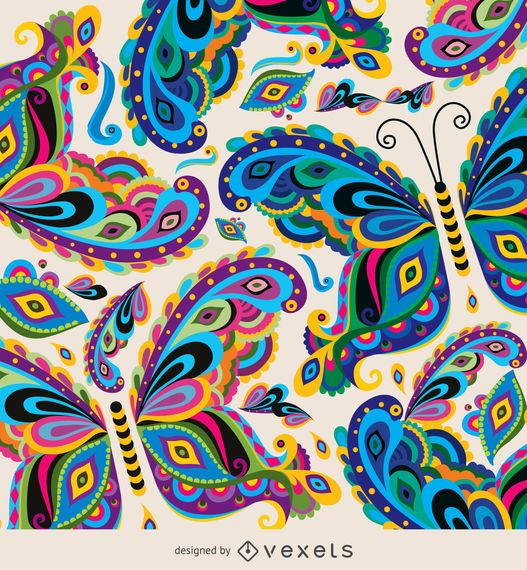 Butterfly Colorful Pattern