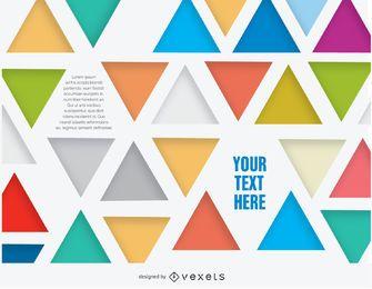 Fondo de triángulos abstractos