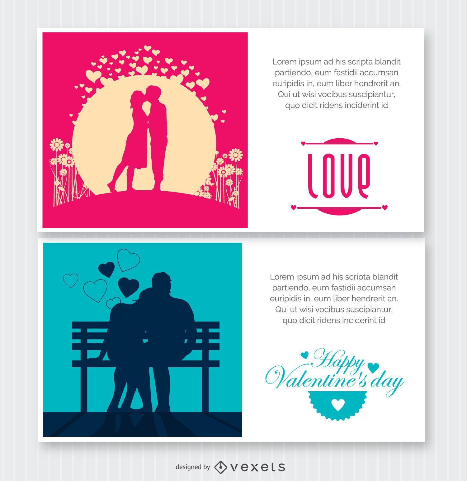 2 Valentine's postcards