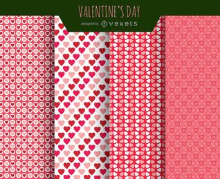 Valentines Liebesmuster
