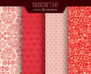 Valentine's Day backgrounds set
