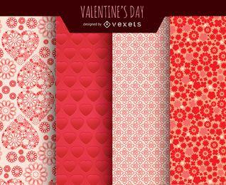 Valentinstaghintergründe eingestellt
