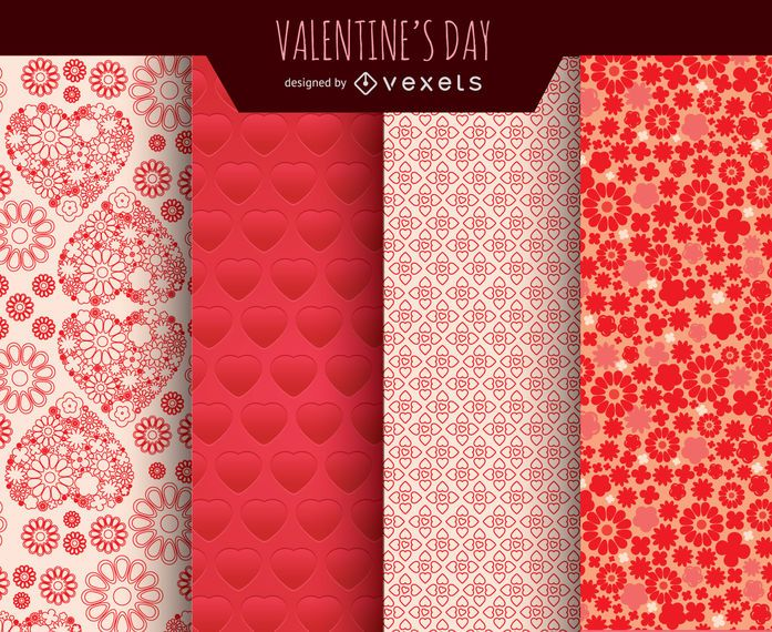 Valentine's Day backgrounds set