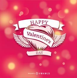 Corazón de San Valentín sobre fondo bokeh