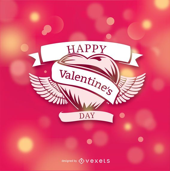 Valentine's heart over bokeh background