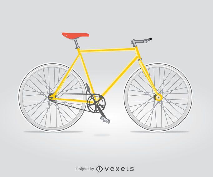 Bicicleta de ciudad aislada