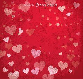 Der rote Hintergrund des glücklichen Valentinsgrußes