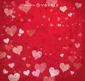 Happy Valentine's red background