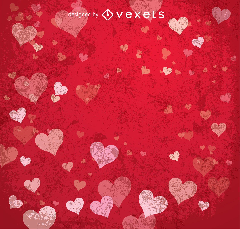 Happy Valentine's red background