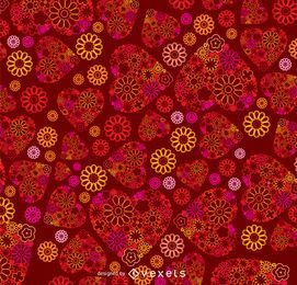 Valentine's ornamental heart background