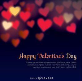 Feliz día de San Valentín bokeh calienta fondo