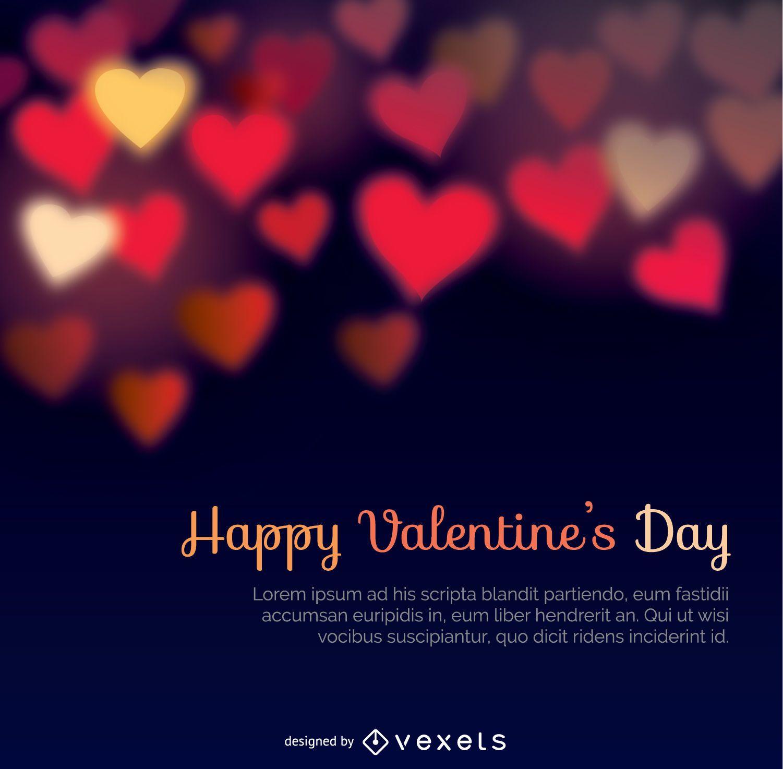 Happy Valentine's Days bokeh heats background