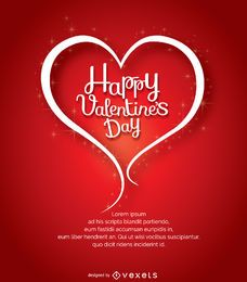 Feliz día de San Valentín símbolo del corazón