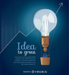 Ideia de cobertura de apresentação de negócios
