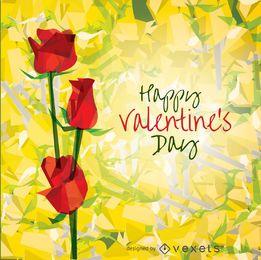 Feliz dia dos namorados rosas
