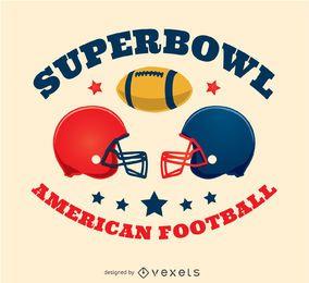 Cascos de fútbol americano diseño