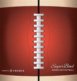 Americal football close up