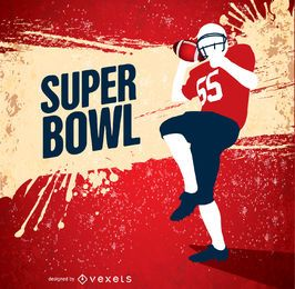 Super Bowl grunge American Football player