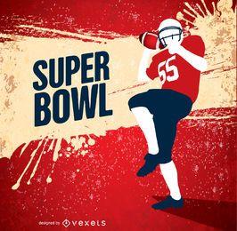 Super Bowl grunge amerikanischer Fußballspieler