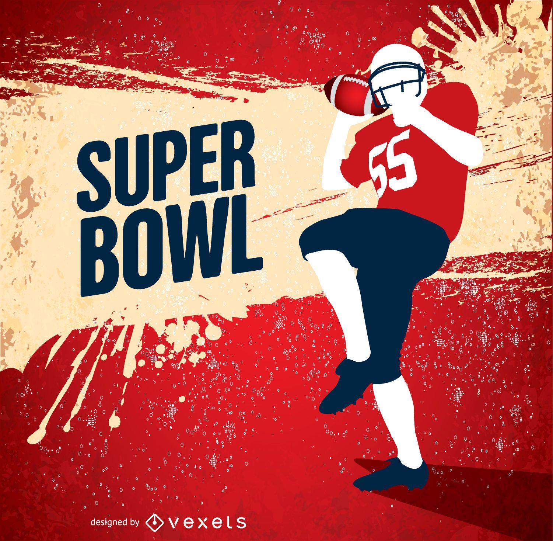 Super Bowl grunge jugador de f?tbol americano