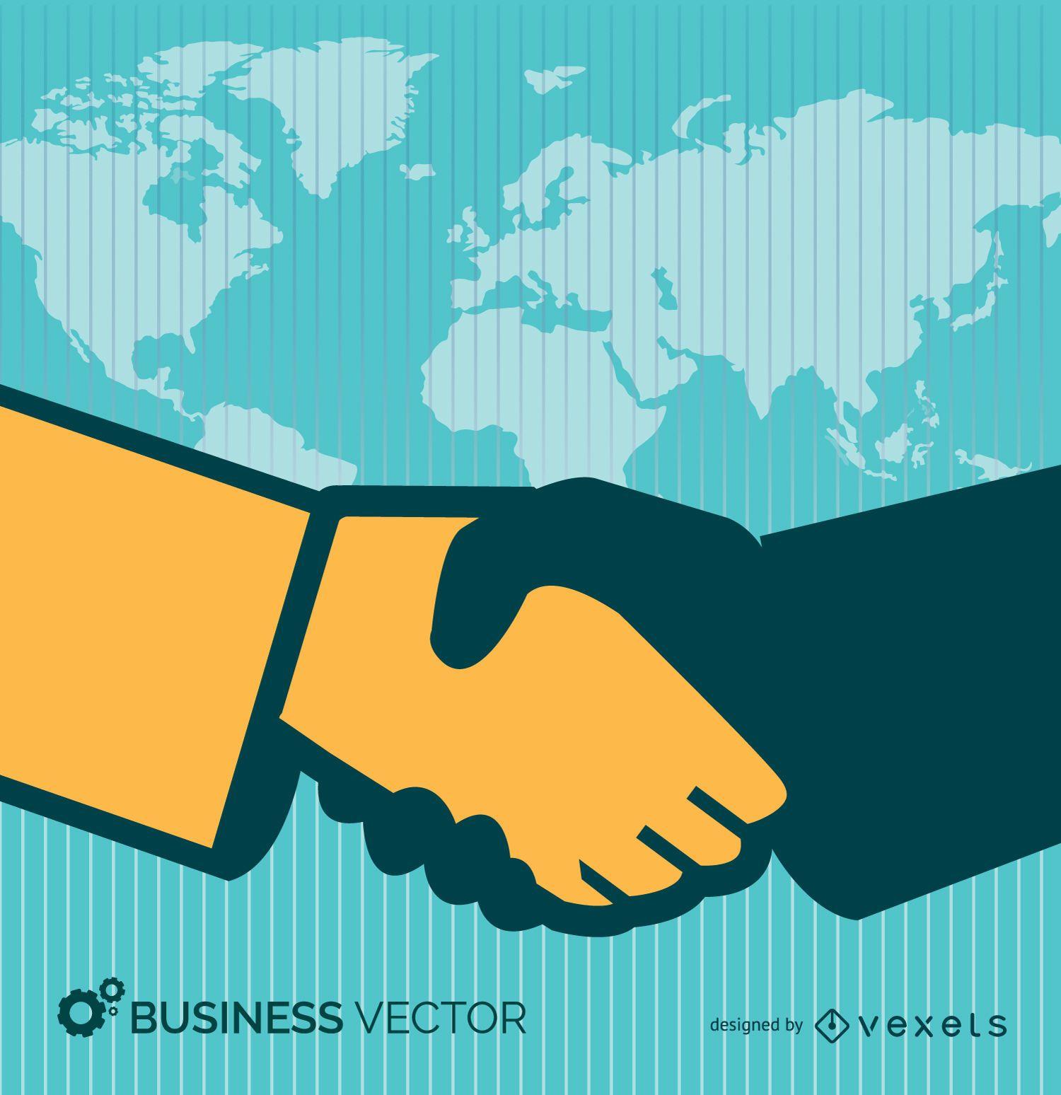Business deal hand shake