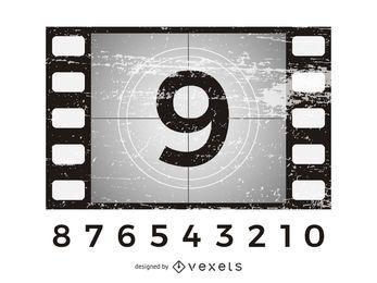 Film Countdown Grunge Hintergrund