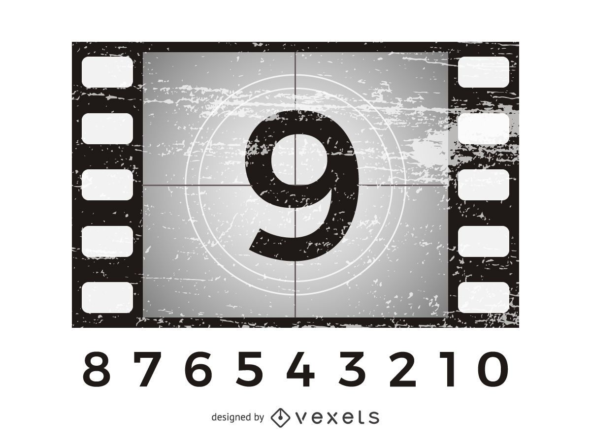 Movie Countdown Grunge Background