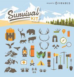 Kit de sobrevivência para acampamento