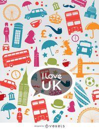 Eu amo a composição do Reino Unido