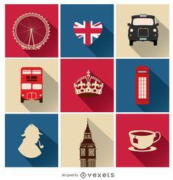 9 ícones do Reino Unido