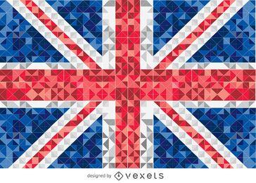 Bandera pixelada del reino unido