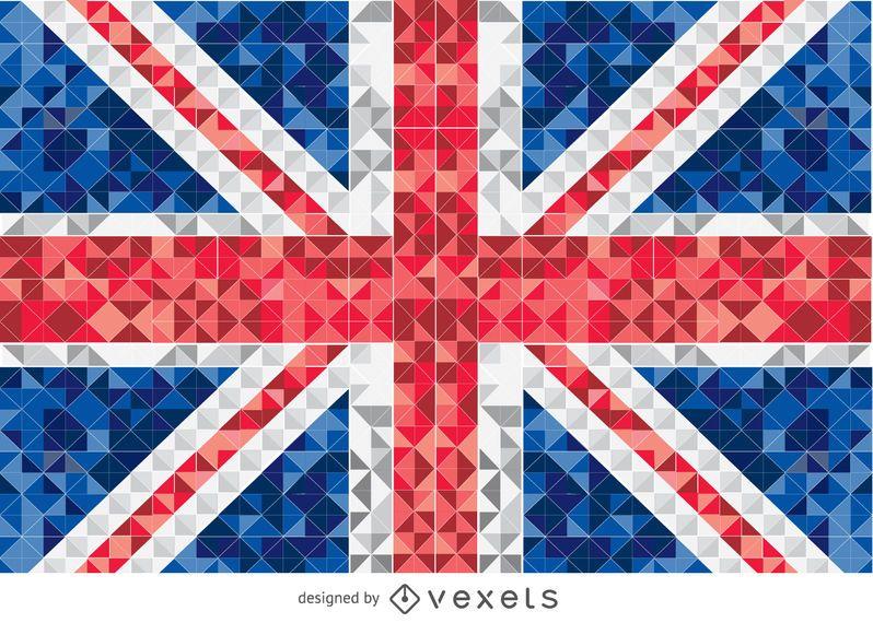 Bandeira pixelizada do Reino Unido