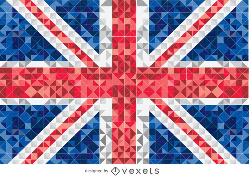 United Kingdom pixelated flag