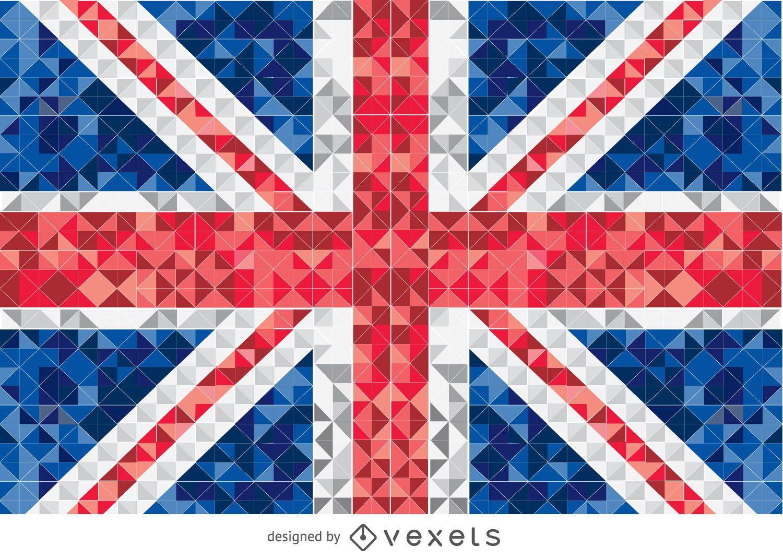 Bandera de Reino Unido pixelada