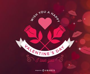 Funkelt rote Valentinsgrußkarte