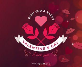 Tarjeta Sparkles Red de San Valentín
