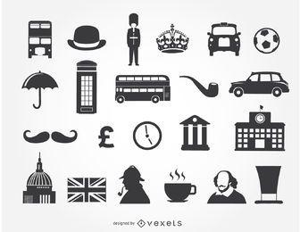 22 ícones do Reino Unido