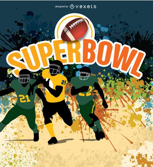 Jugadores de fútbol americano Super Bow