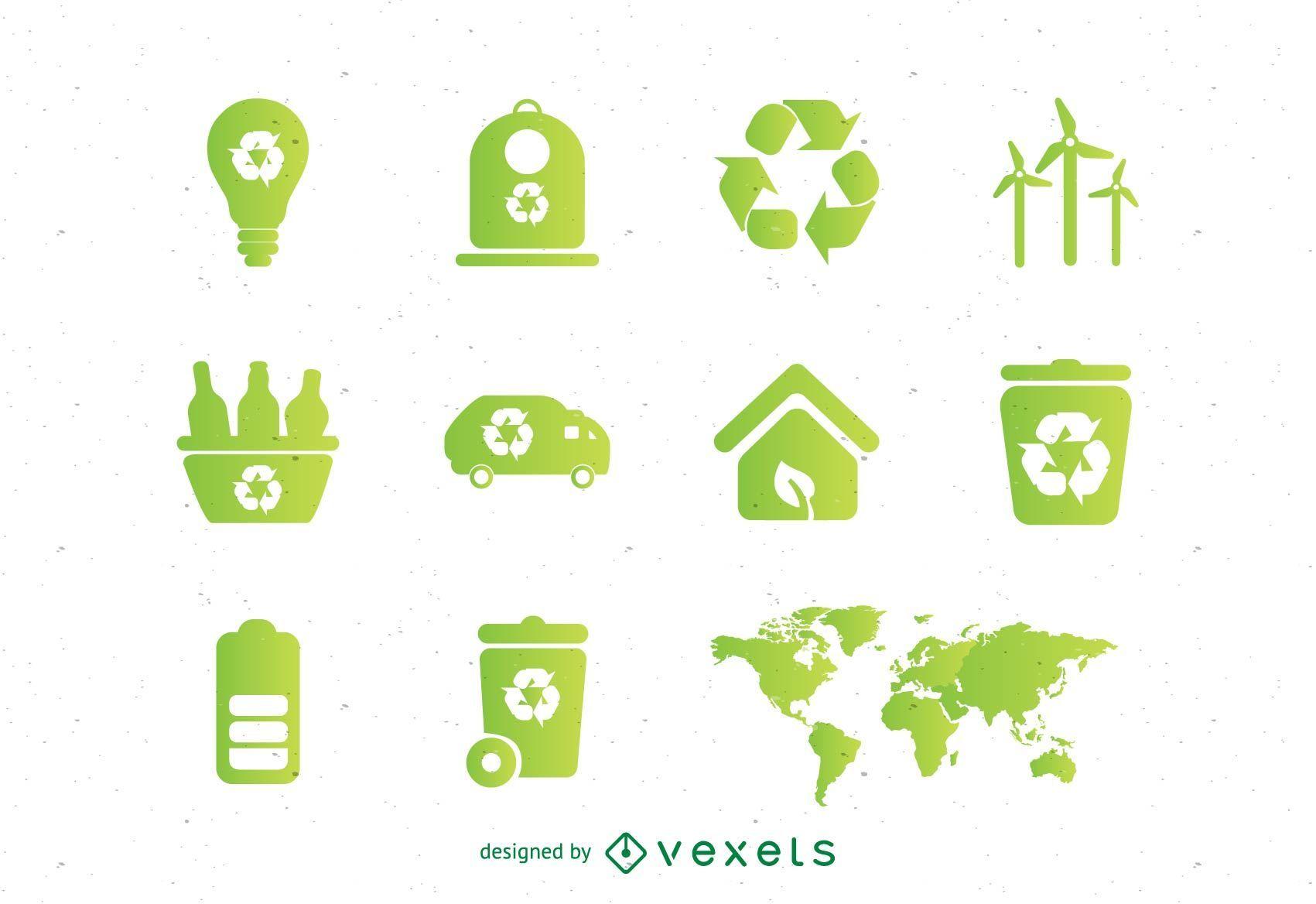Ökologische Vektoren eingestellt