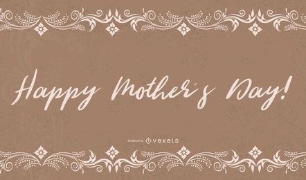 Floral Grunge Mothers Day Card