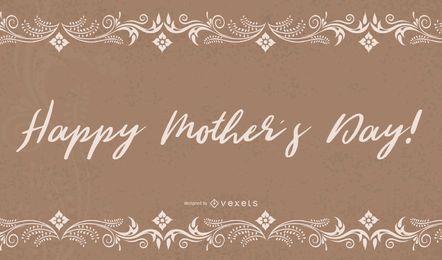 Tarjeta floral del día de madres grunge