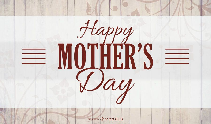 Mothers Day Wooden Texture Card