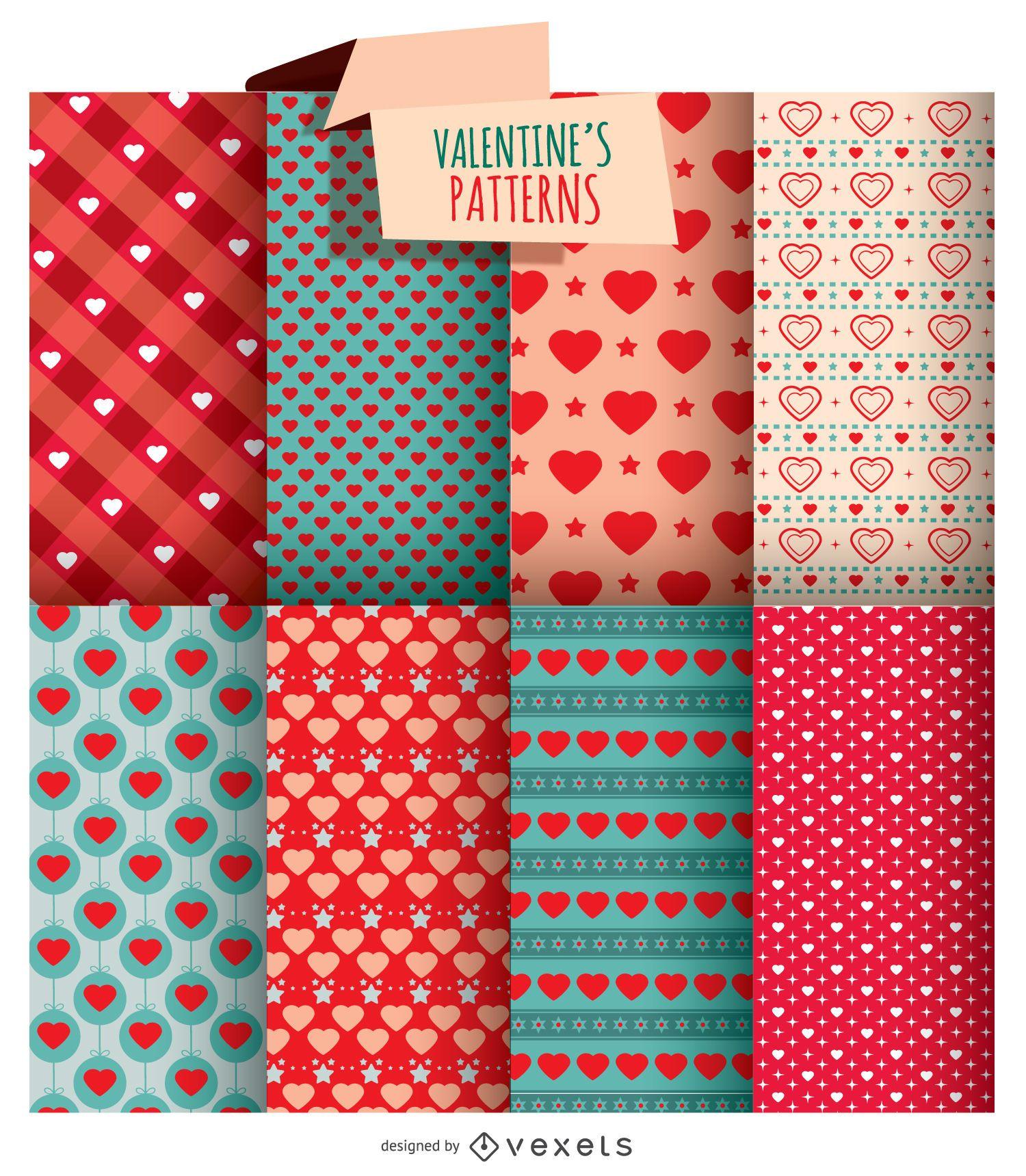 8 texturas de San Valentín