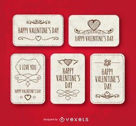 Happy valentine's day labels