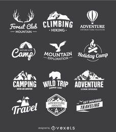 12 emblemas de viagem
