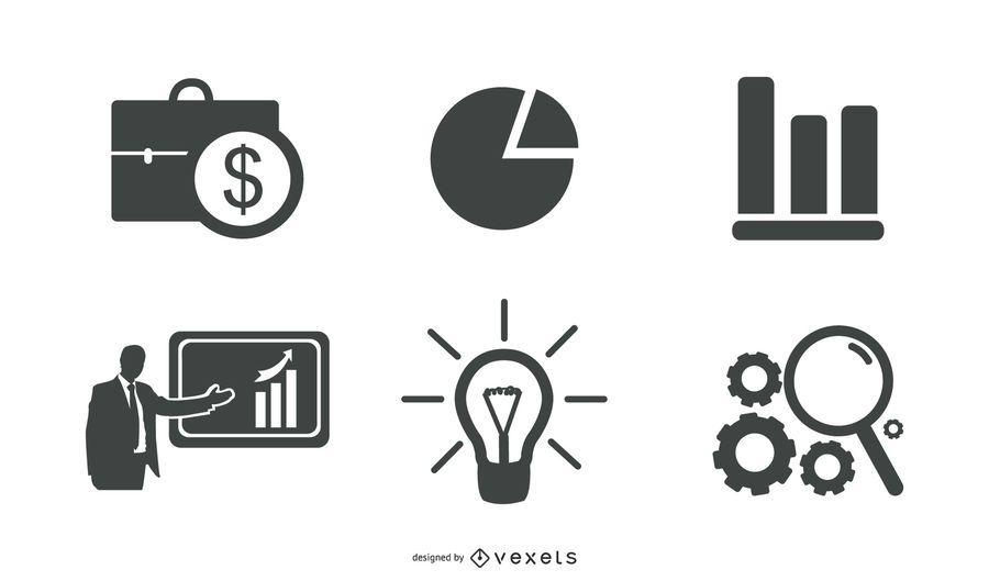 Negócios criativos e elementos da Web