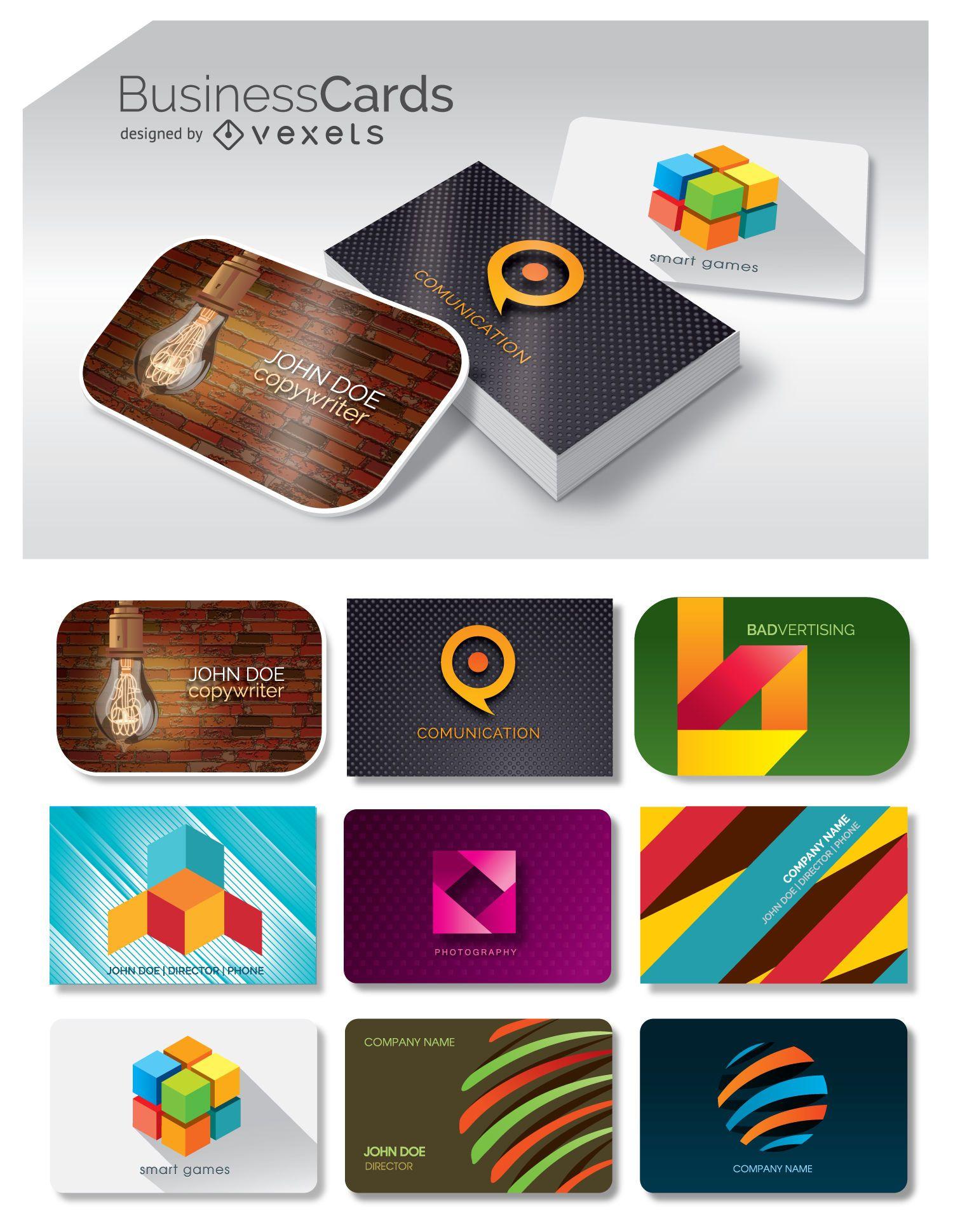9 tarjetas de visita
