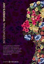 Dia da mulher da arte da flor