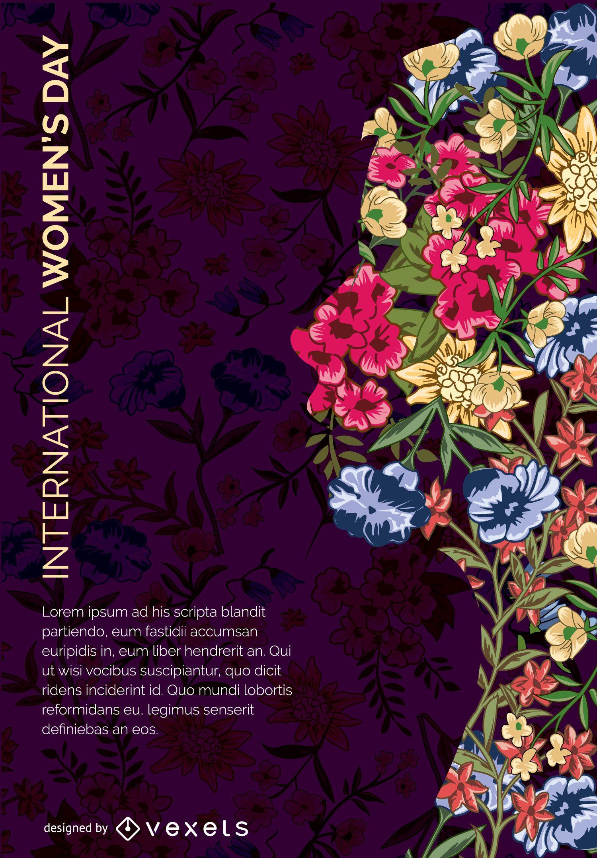 Arte floral dia da mulher